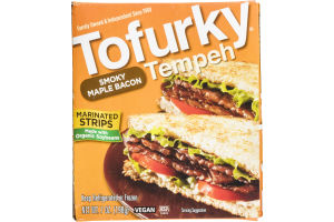 Tofurky Tempeh Marinated Strips Smoky Maple Bacon