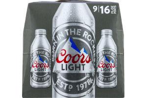 Coors Light Aluminum Pints - 9 PK