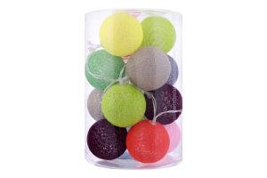 Гирлянда декоративна с шариками 18м D*-1