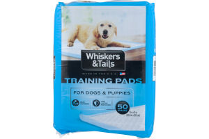 Whiskers & Tails Training Pads For Dogs & Puppies - 50 CT