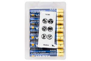 Батарейка VARTA LONGLIFE AAA BOX 12 ALKALINE