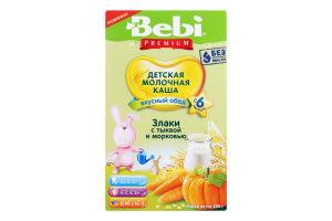 Каша молочна з гарбузом та морквою для дітей від 6міс Злаки Premium Bebi к/у 200г