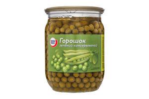 Горошек зеленый консервированный Повна Чаша с/б 510г