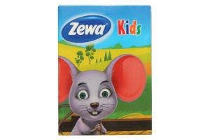 Платочки бумажные 4-х слойные Kids Zewa 9х10шт