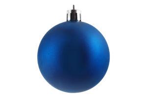 Украшение елочное Шар синий пластик 6см D-011