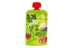 Пюре для детей от 6мес Яблоко-груша-черная смородина Baby Bob Snail д/п 90г