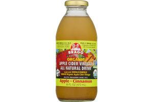 Bragg Organic Apple Cider Vinegar All Natural Drink Apple Cinnamon