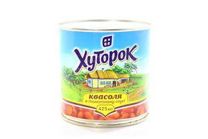 Квасоля Хуторок в томатному соусі 425мл х10