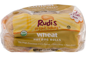 Rudi's Organic Bakery Wheat Hot Dog Rolls - 6 CT
