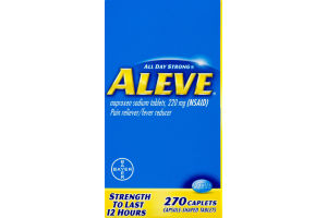 Aleve Pain Reliever / Fever Reducer Caplets - 270 CT