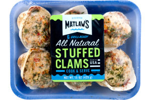 Matlaw's All Natural Stuffed Clams - 6 CT