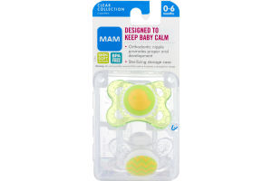 MAM Clear Collection Pacifiers 0-6 months - 2 CT