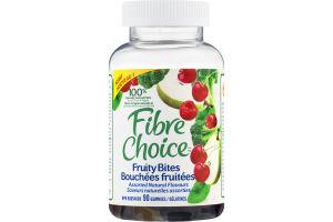 (CN) Fibre Choice Bouchees Fruitees Gelatines - 90 CT, Fibre Choice Fruity Bites Gummies Assorted Natural Flavours - 90 CT