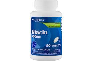 CareOne Niacin 250mg Tablets - 90 CT