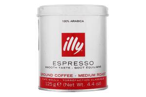 Кофе молотый Espresso Illy ж/б 125г