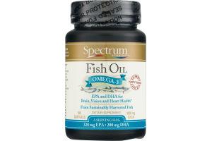 Spectrum Essentials Fish Oil Omega-3 1000mg Softgels - 100 CT