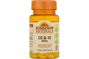 Sundown Naturals CO Q-10 200mg - 40 CT