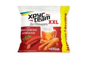 Сухарики хрусткі зі смаком мисливських ковбасок Хрусteam м/у 110г