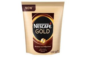 Кофе натуральный растворимый сублимированный Gold Nescafe м/у 120г