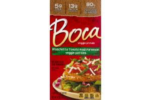 Boca Veggie Protein Patties Bruschetta Tomato Basil Parmesan- 4 CT