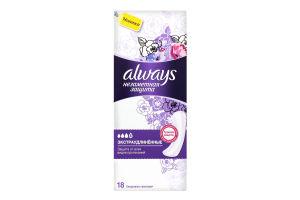 ALWAYS Ежедн гигиенические прокладки ароматизированные Незаметная защита Экстраудлинен Single 18шт