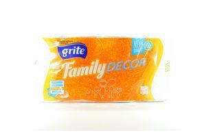 Бумага туалетная 3-х слойная Decor Family Grite 8шт