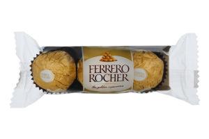 Конфеты вафельные с молочным шоколадом и лесными орехами Ferrero Rocher м/у 37.5г