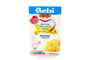 Каша Bebi Premium молочна вівсяна з курагою 250г х18