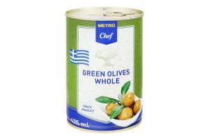 Оливки зелені з кісточкою Metro Chef з/б 400г