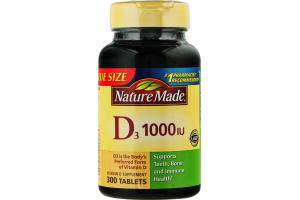 Nature Made D3 1000 IU Tablets - 300 CT