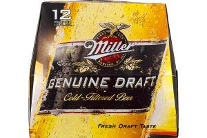 Miller Genuine Draft Cold-Filtered Beer - 12 PK