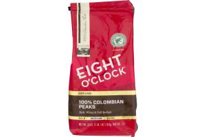 Eight O'Clock Medium Roast Ground Coffee 100% Colombian Peaks