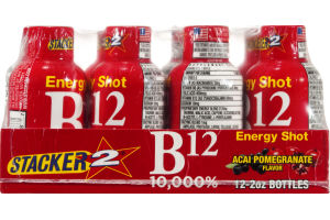 Stacker 2 B12 Energy Shot Acai Pomegranate - 12 CT