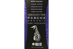 Pascha Organic Dark Chocolate 85% Cacao