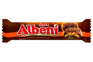 Печенье с молочно-шоколадной глазурью и карамельной начинкой Albeni Ülker м/у 72г