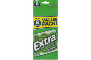 Wrigley's Extra Sugar Free Gum Spearmint Value Pack - 8 CT