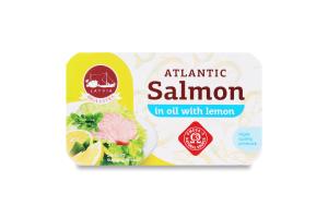 Лосось атлантичний в олії з ароматом лимона Banga з/б 120г