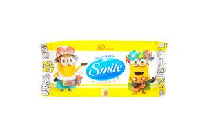 Серветки вологі Smile Ліцензійні герої 60шт. х12