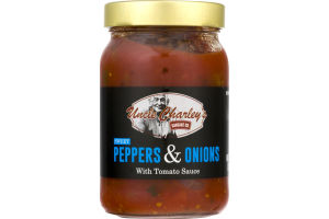 Uncle Charley's Sausage Co. Peppers & Onions With Tomato Sauce Sweet