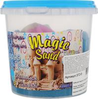 Набір для творчості блакитного кольору що світиться у темряві для дітей від 3років №372-9 Magic Sand Strateg 1шт