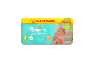 Підгузники дитячі Pampers Active Baby-Dry Maxi 7-14 кг Мала Мега Упаковка 106