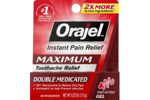 Orajel Instant Pain Relief Maximum Fast-Acting Gel