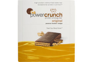 Power Crunch Protein Energy Bar Original Peanut Butter Fudge - 12 CT