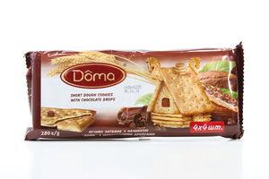 Печенье затяжное с шоколадными дропсами Doma 280г