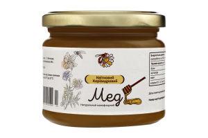 Мед натуральний квітковий коріандровий, вищого ґатунку.