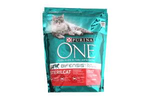 Корм для стирилізованих котів з лососем One 800г