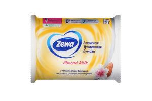 Папір туалетний вологий Мигдальне молочко Zewa 42шт