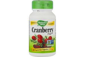 Nature's Way Cranberry Fruit Vegetarian Capsules 465 mg - 100 CT