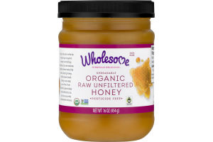 Wholesome! Organic Raw Unfiltered Honey