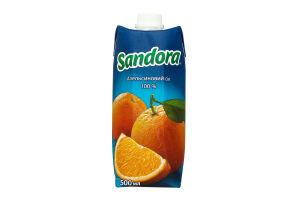 Сок апельсиновый неосветленный Sandora т/п 500мл